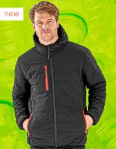 Recycled Black Compass Padded Winter Jacket